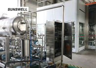 Precisely Control   Washing Filling Capping Machine Warm Temperature For  Soft Drink