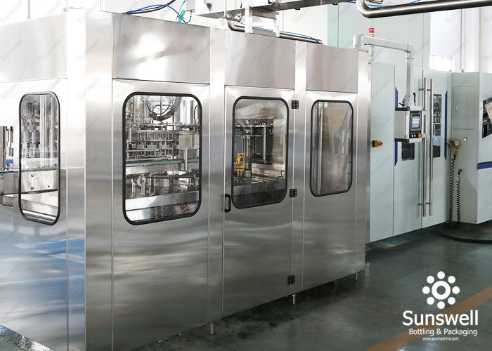 Aseptic Blowing Filling Capping Combiblock Production Line / Bottling Plant