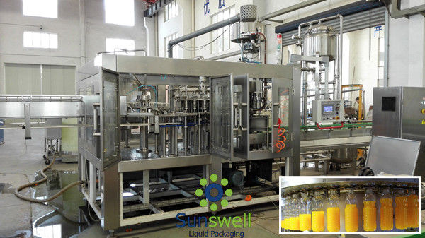 Automatic Beverage Filling Machine / Juice Bottling Equipment